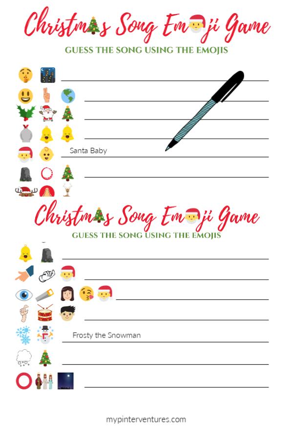 Christmas Song Emoji Game Christmas Song Games Emoji Christmas Free Christmas Songs