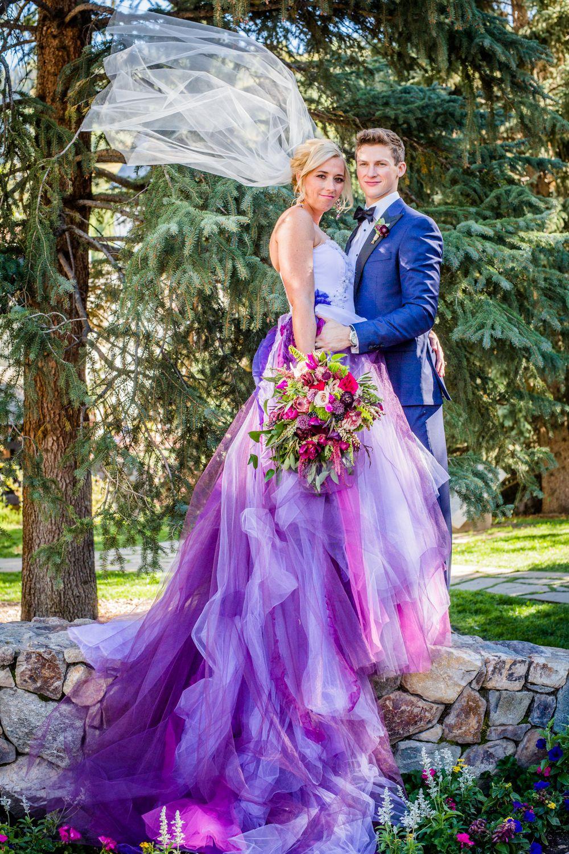 Vail Co Purple Wedding Dress Iconic Weddings Wedding Dresses [ 1500 x 1000 Pixel ]