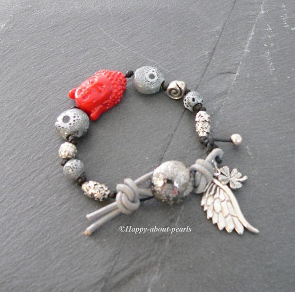 Armband Glücksarmband von Happy-about-Pearls Trendschmuck & Accessoires auf DaWanda.com