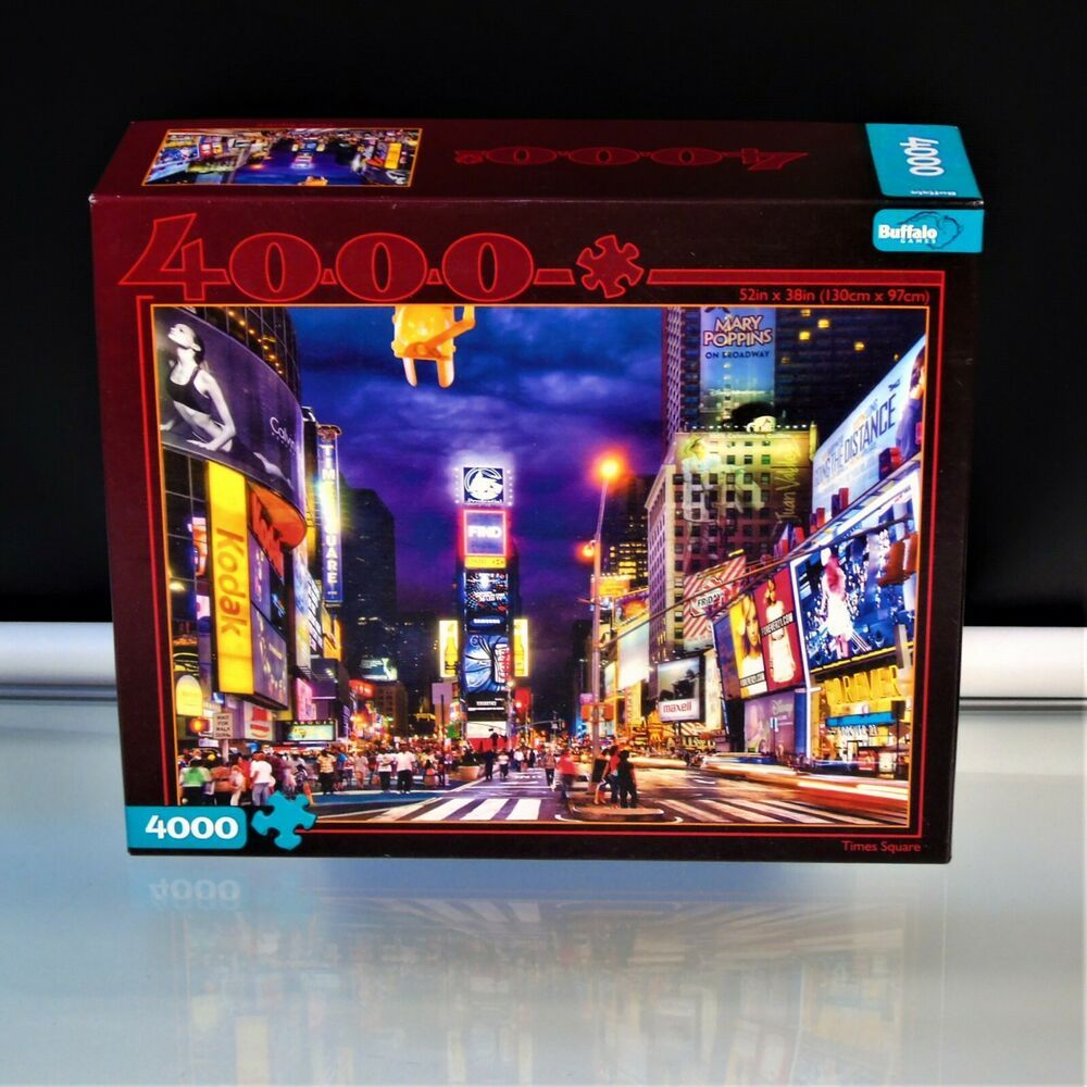 Times Square 4000 Pc Jigsaw Puzzle With Poster By Buffalo Games Discontinued Ebay In 2020 Buffalo Games Jigsaw Puzzles Puzzle Games For Kids