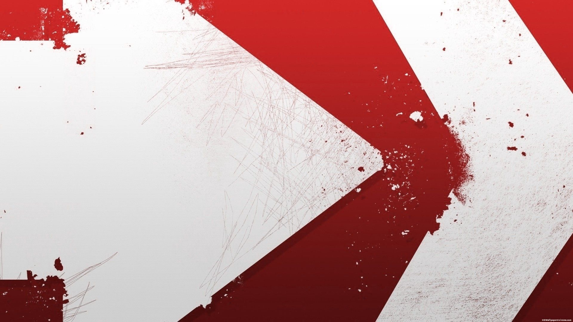 Arrows Red And White Abstract HD Wallpaper