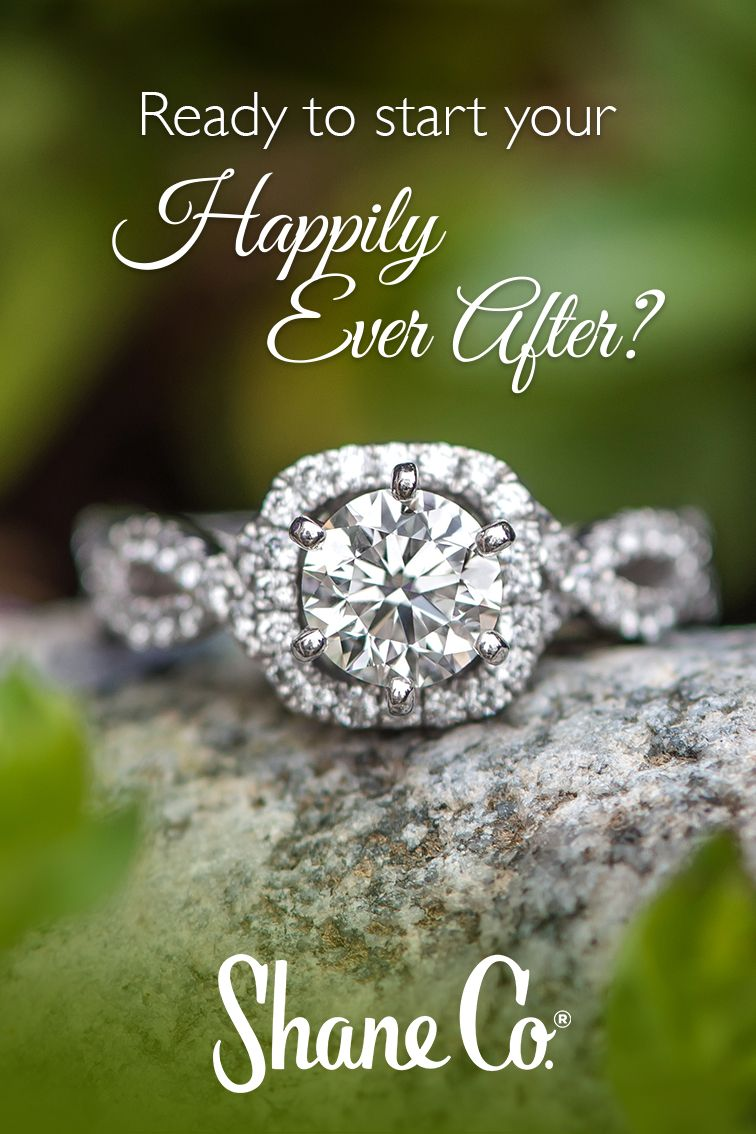 Infinity Halo Diamond Engagement Ring Engagement Rings Halo