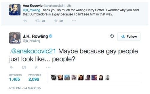 Tweet Of The Day J K Rowling S Perfect Response To A Question About Dumbledore S Sexuality Rowling Jk Rowling Jk Rowling Tweets