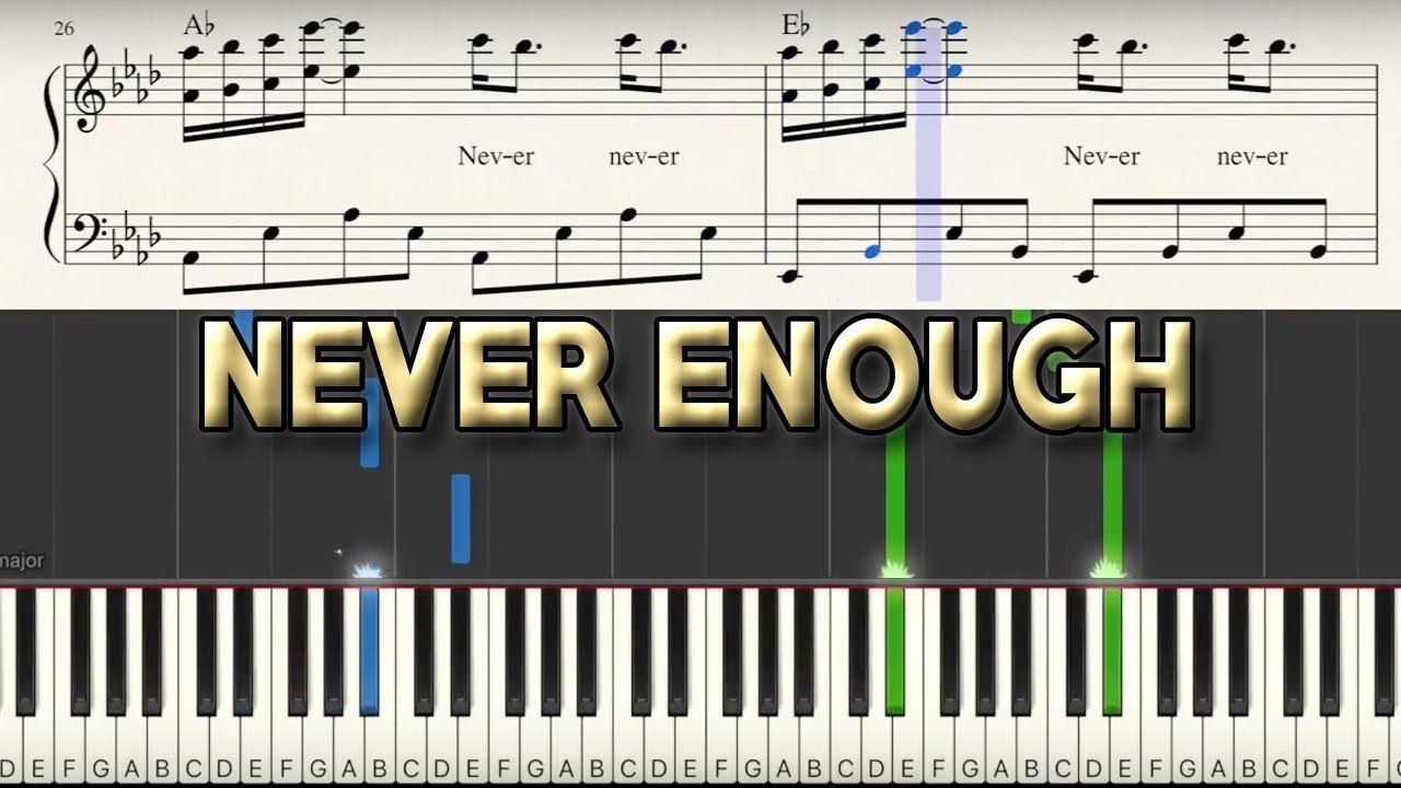 Never Enough Piano Tutorial Sheet Music The Greatest Showman G Piano Tutorial Piano Songs Sheet Music