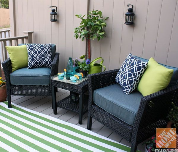 Small Porch Decorating Ideas. A Way To Re Upholster (or Make Again) Our Outdoor  Furniture Cushions!