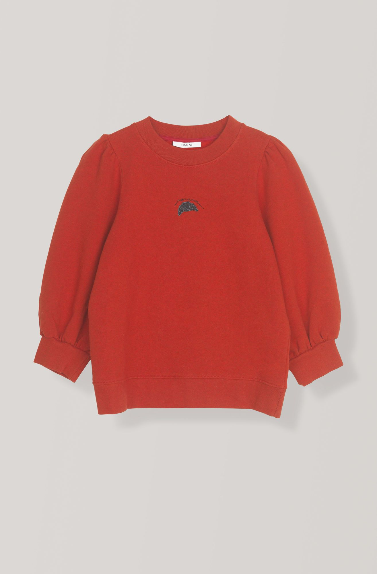 3eb591a8a Lott Isoli Sweatshirt, Mon Amour, Fiery Red   GANNI   Bluebell i 2019