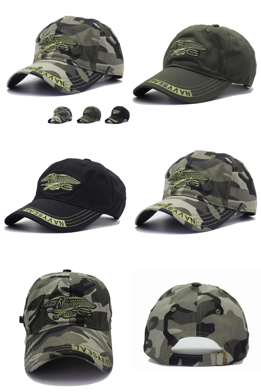 Visit to Buy  High Quality Camo Baseball Cap Men Camouflage Navy Seal  Tactical Cap c901e88582c