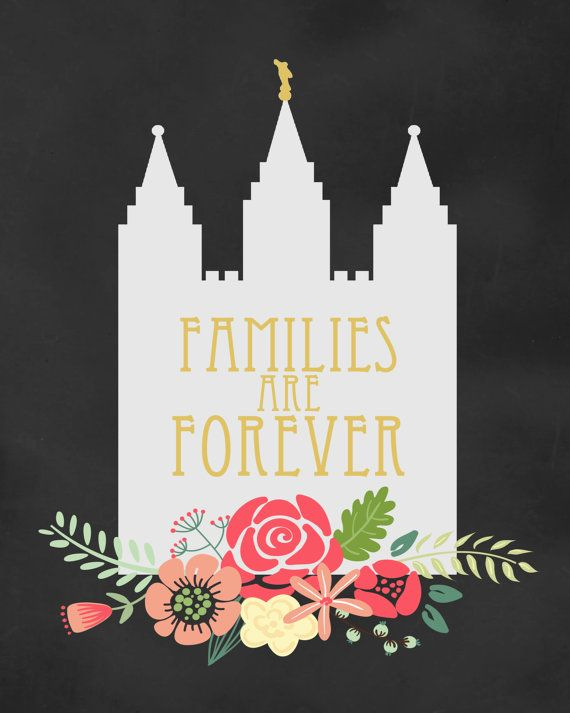 lds families are forever printable 8x10 digital download lds