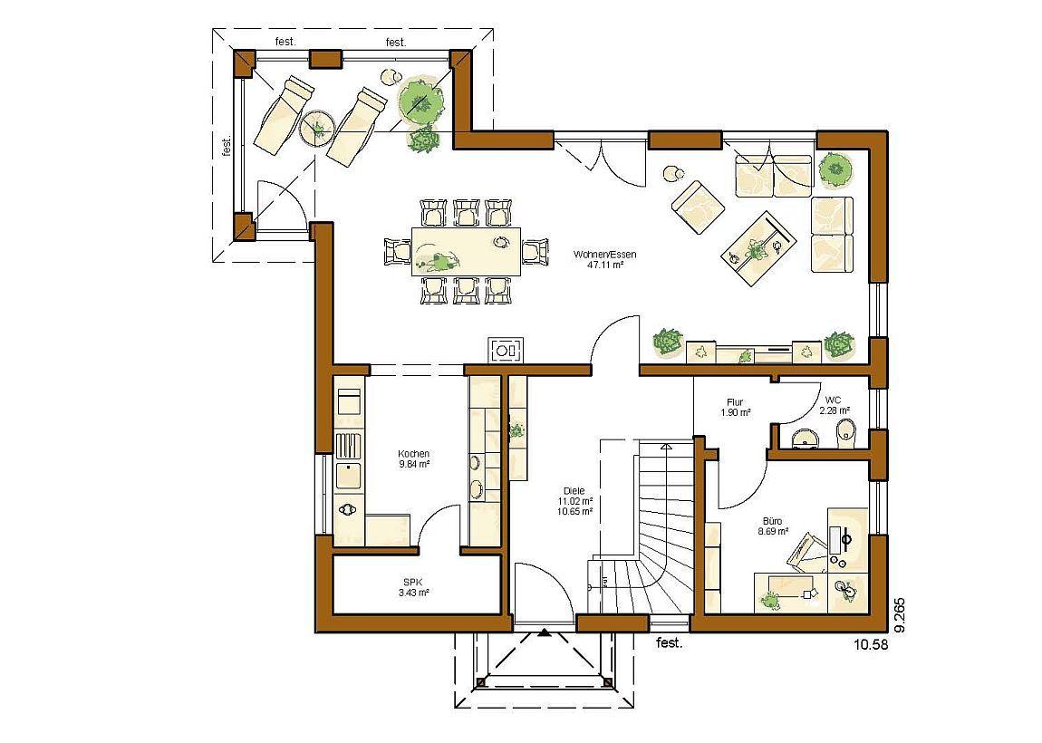 CLOU 157 (Walmdach) - RENSCH-HAUS GMBH   Hauspläne   Pinterest