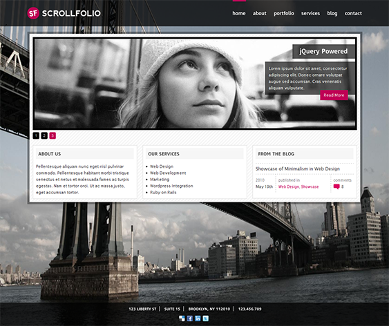 This One Page Website Template Offers Horizontal Scrolling A