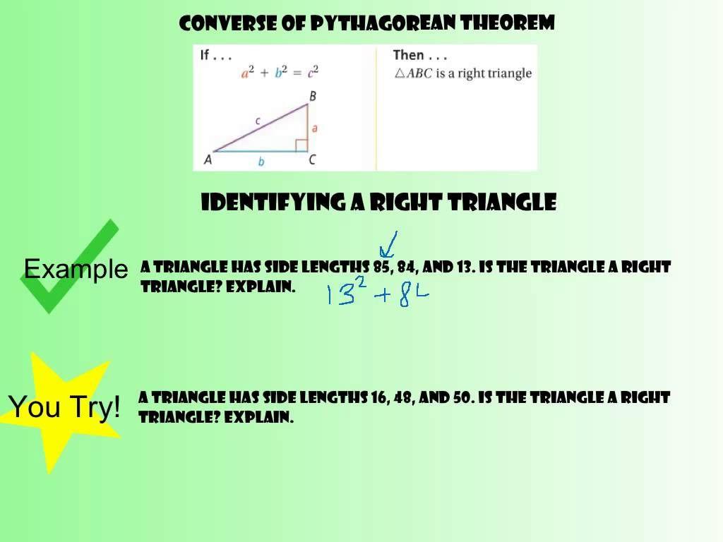 8 1 Pythagorean Theorem and Its Converse   Pythagorean ...