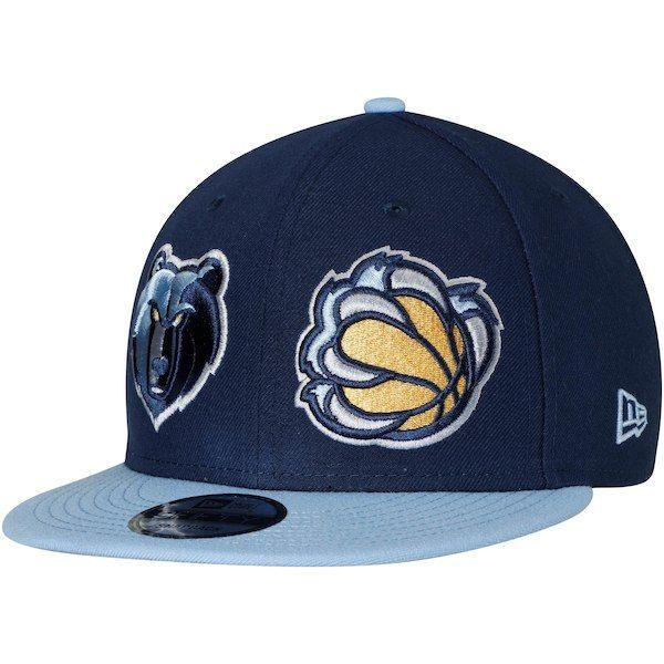 finest selection add52 6fbf2 Memphis Grizzlies New Era Y2K Double Whammy 9FIFTY Adjustable Snapback Hat  - Navy Light Blue  MemphisGrizzlies