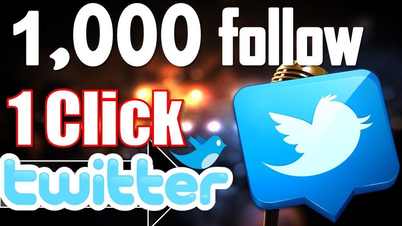 Best 1 Tricks To Make Followers in Twitter 1Click Follow