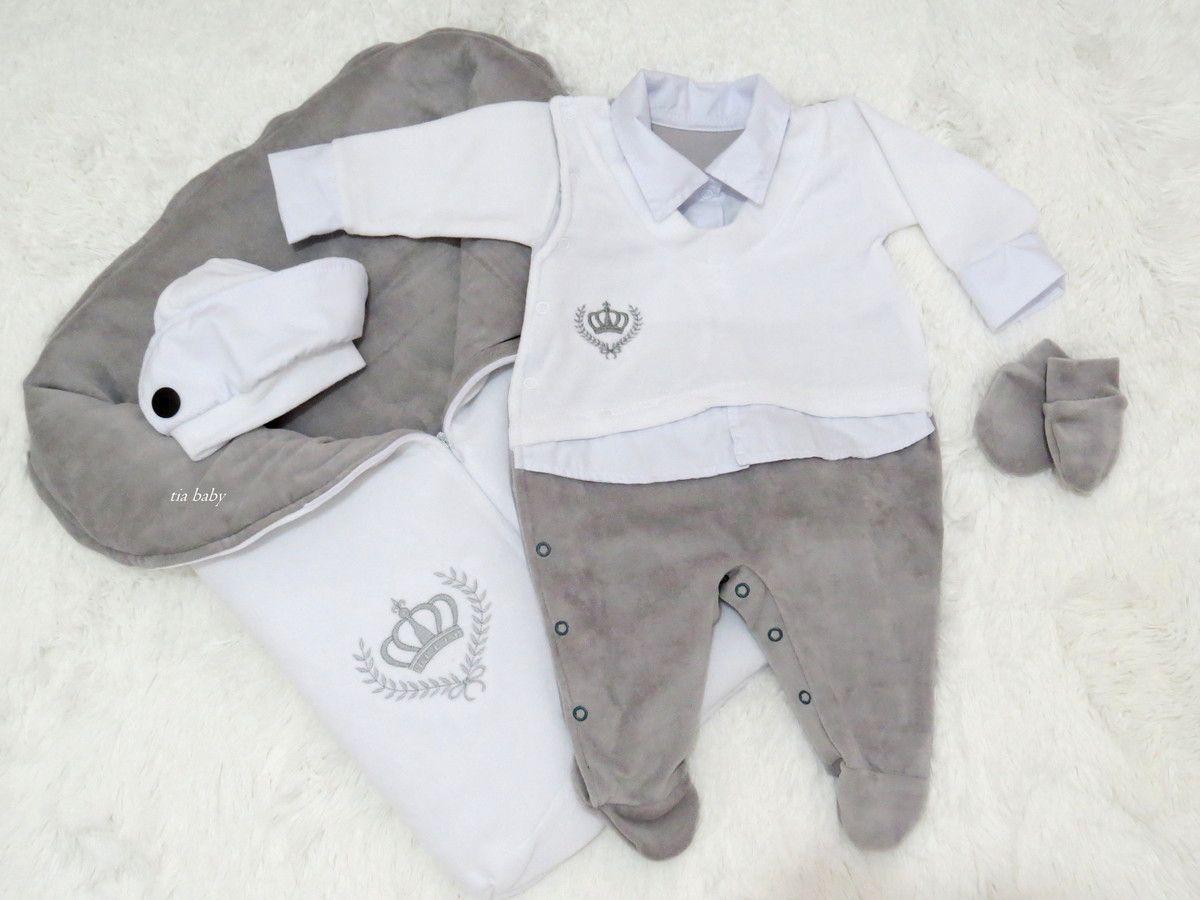 20fa834688 Saída de Maternidade Principe Cinza R  169