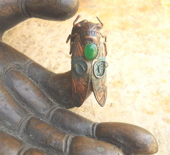 Cicada ring!  MadArtJewelry on Etsy.