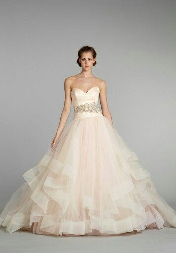 Flowing Pink Wedding Dresses