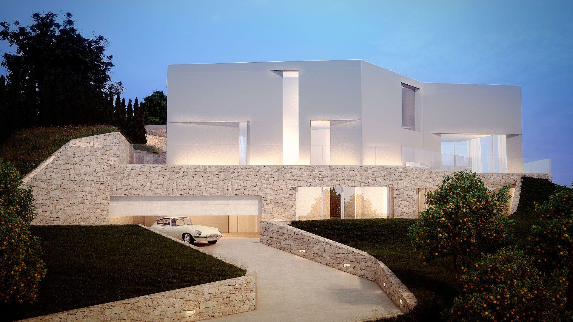 Casa Cala Ambolo - Ram N Esteve Estudio Ramonesstone Housesbeach