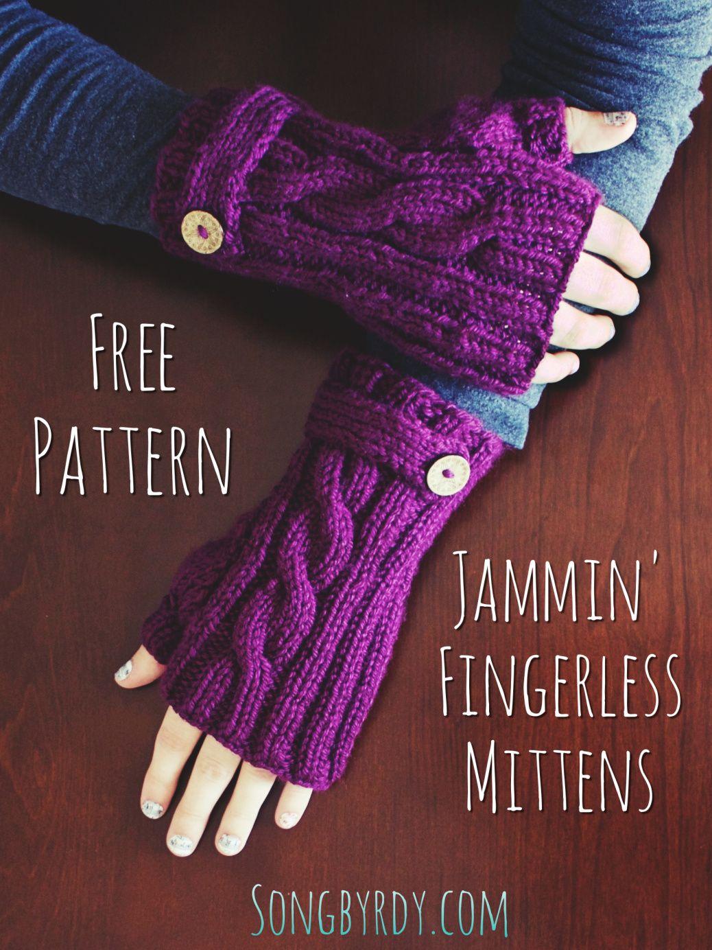 Free Knitting Pattern | Fingerless mittens, Fingerless ...