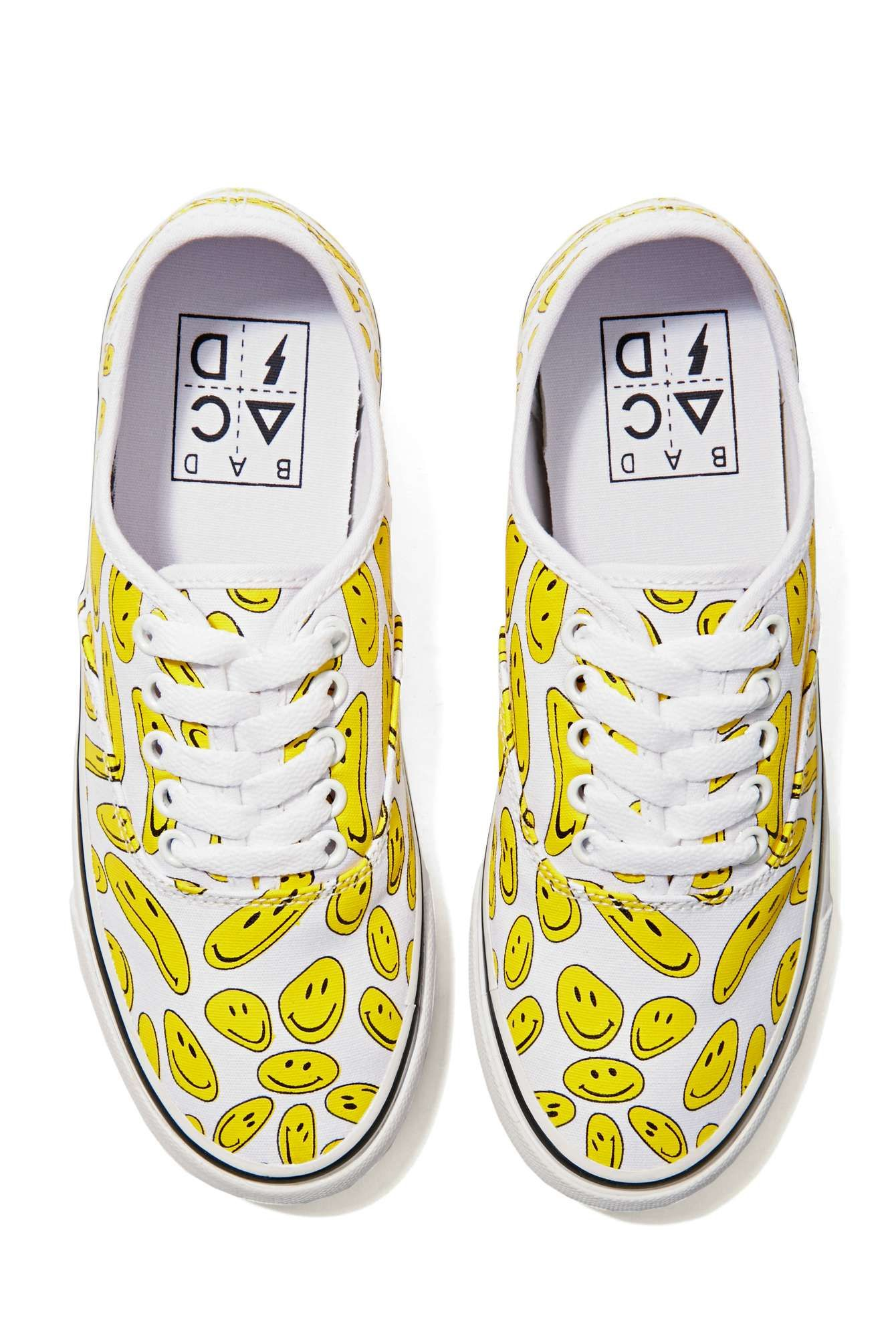 Bad Shop 24 Bad Acid Smiley Sneakers Shop 24 Hour Party People At Nasty Gal