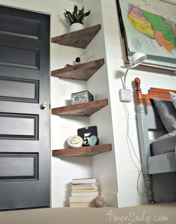 44 Impressive DIY Shelves For Storage & Style | Shelves, Bedrooms ...
