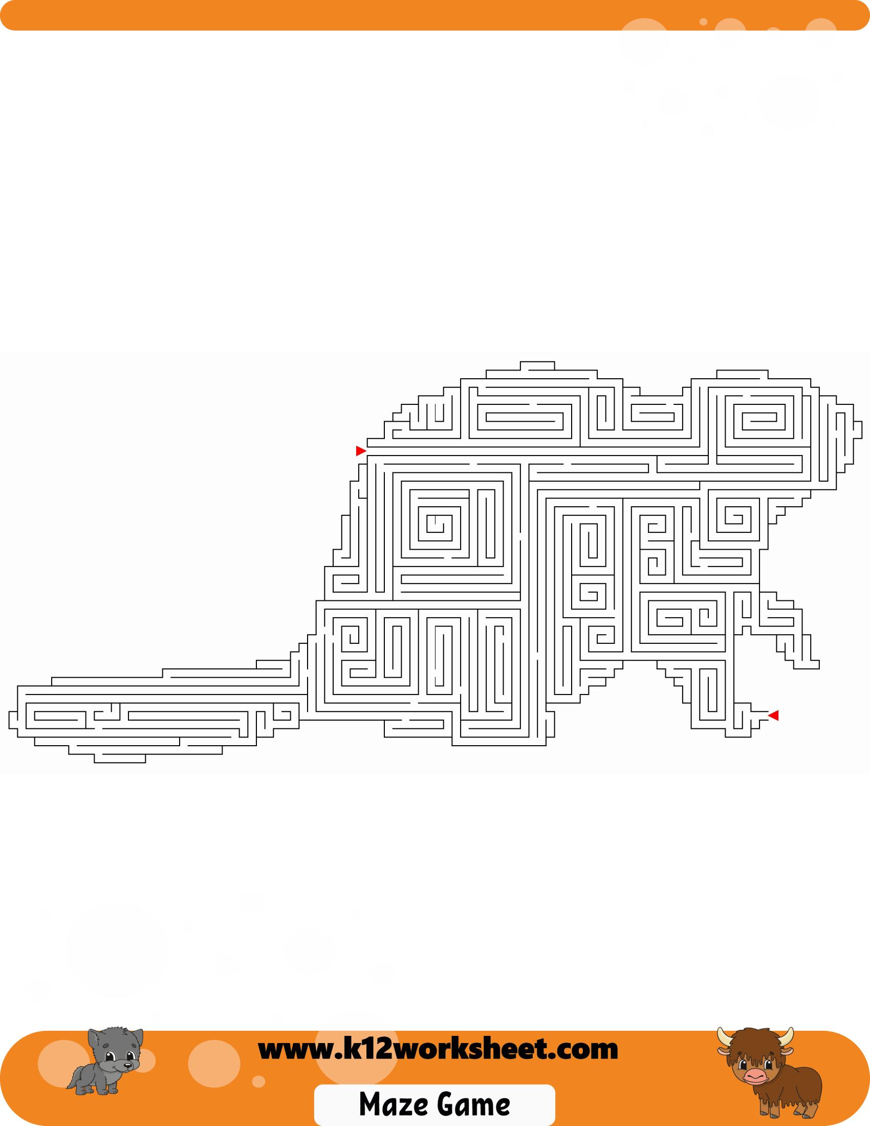 Squirrel Maze For Kids