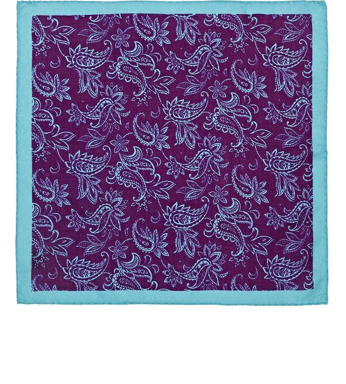 Mens Paisley Wool-Cashmere Pocket Square Barneys New York BXbJn4Z