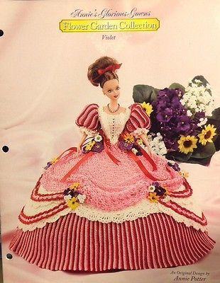 Annies Glorious Gowns Violet Flower Garden Collection Crochet Pattern Barbie