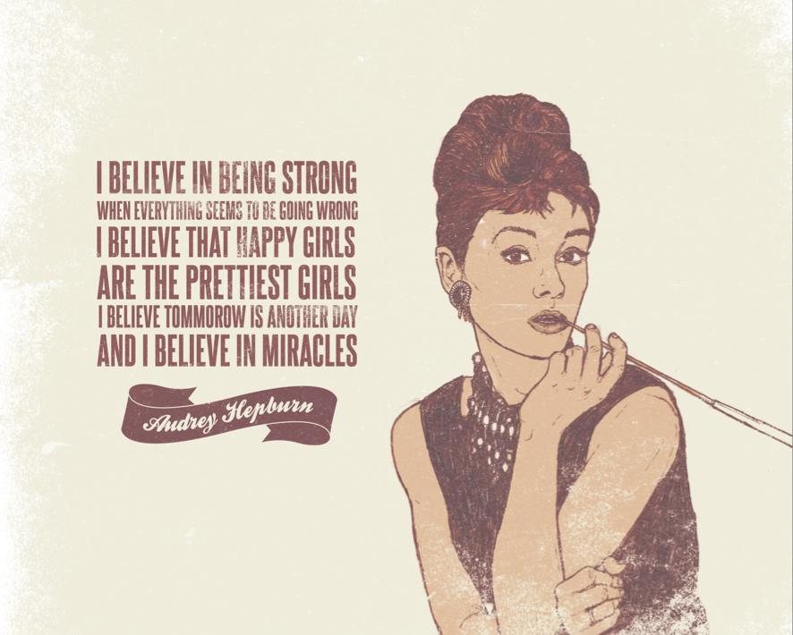 Iconic Women Vintage QuotesAudrey