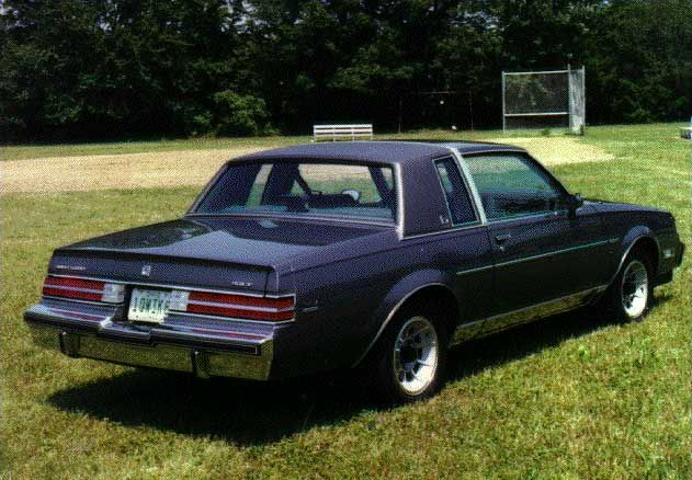 rear view of 1984 buick regal limited i want this car. Black Bedroom Furniture Sets. Home Design Ideas