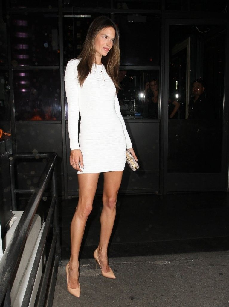 white long sleeved mini dress, nude heels | Clothes! | Pinterest ...