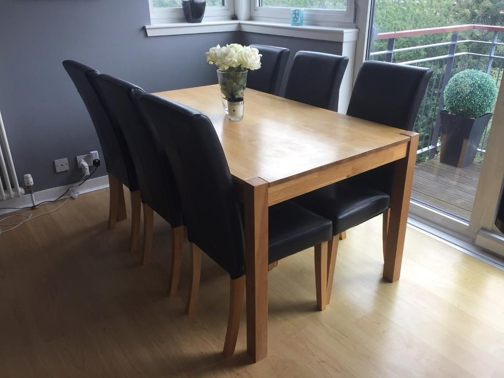Https I Ebayimg Com 00 S Nzy4wdewmjq Z Kggaaosw8w1beuq9 86 Jpg Solid Oak Dining Table Dining Table Chairs Oak Dining Table