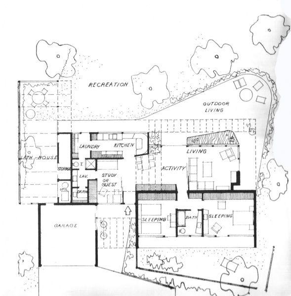 Case Study House No.7, San Gabriel CA (1948) | Architect : Thornton ...