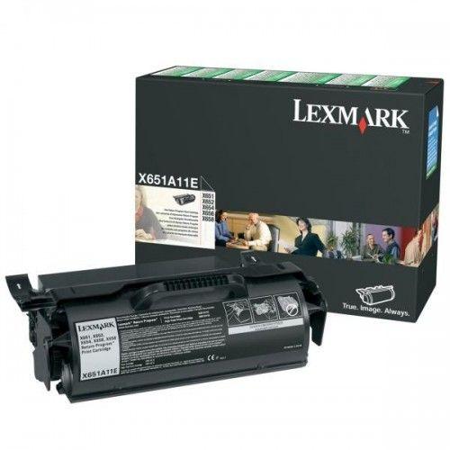 Lexmark Oryginalny Toner X651a11e Black 7000s Return Lexmark X651 X652 X654 X656 X658