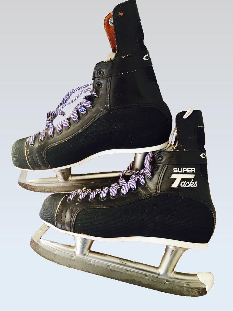 VTG CCM Super Tacks Hockey Skates Prolite Wear Decor Size 8-1 2 4937 EUC  EVC  157a82295