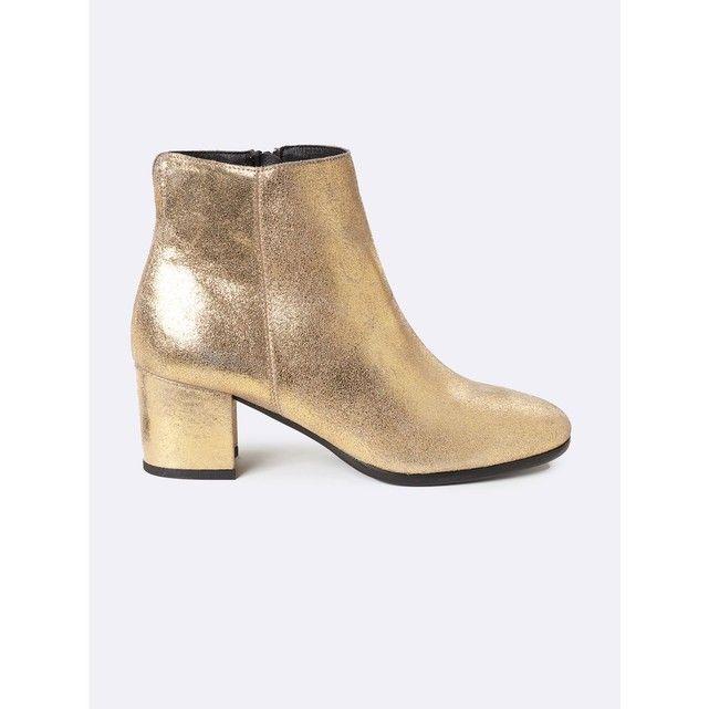 Boots bout carré en cuir Cyrillus frFAyroK5N
