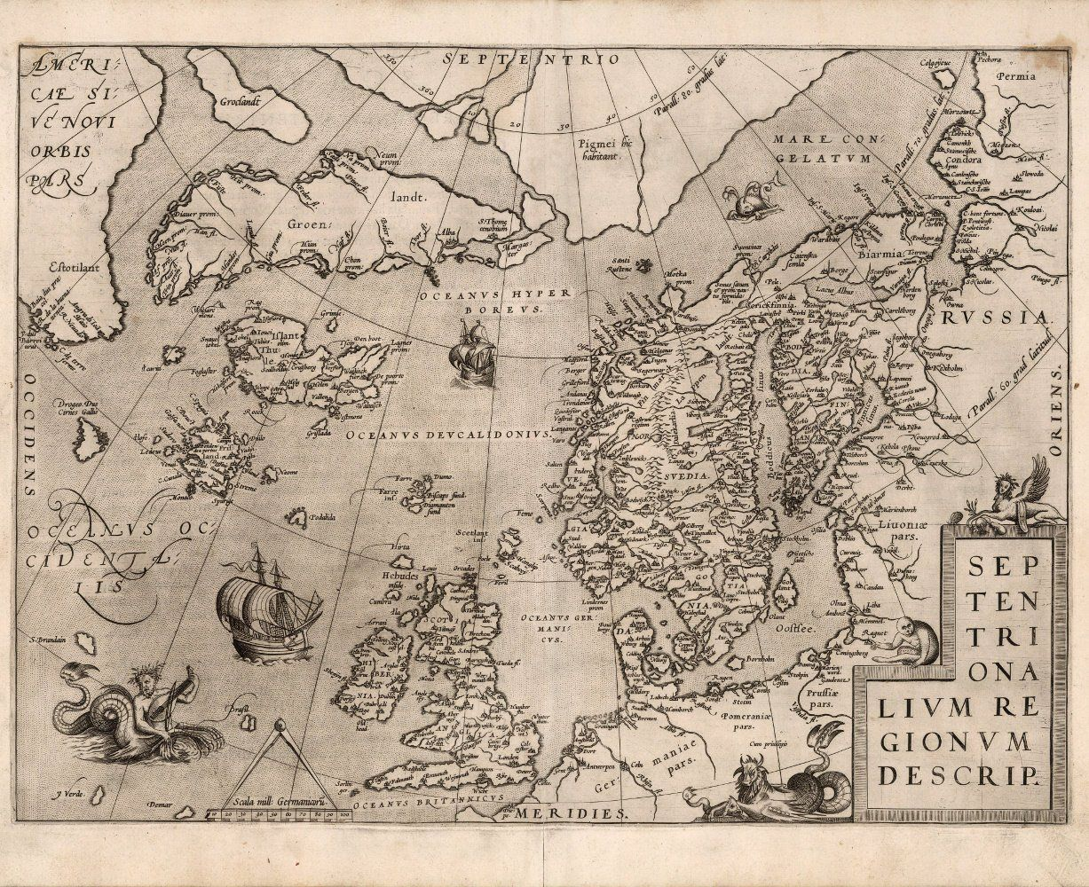 Old Map Of Scandinavia Sweden Finland 16th Century Fine Art Reproduction Mp038 Old Map Antique Maps Art Reproductions