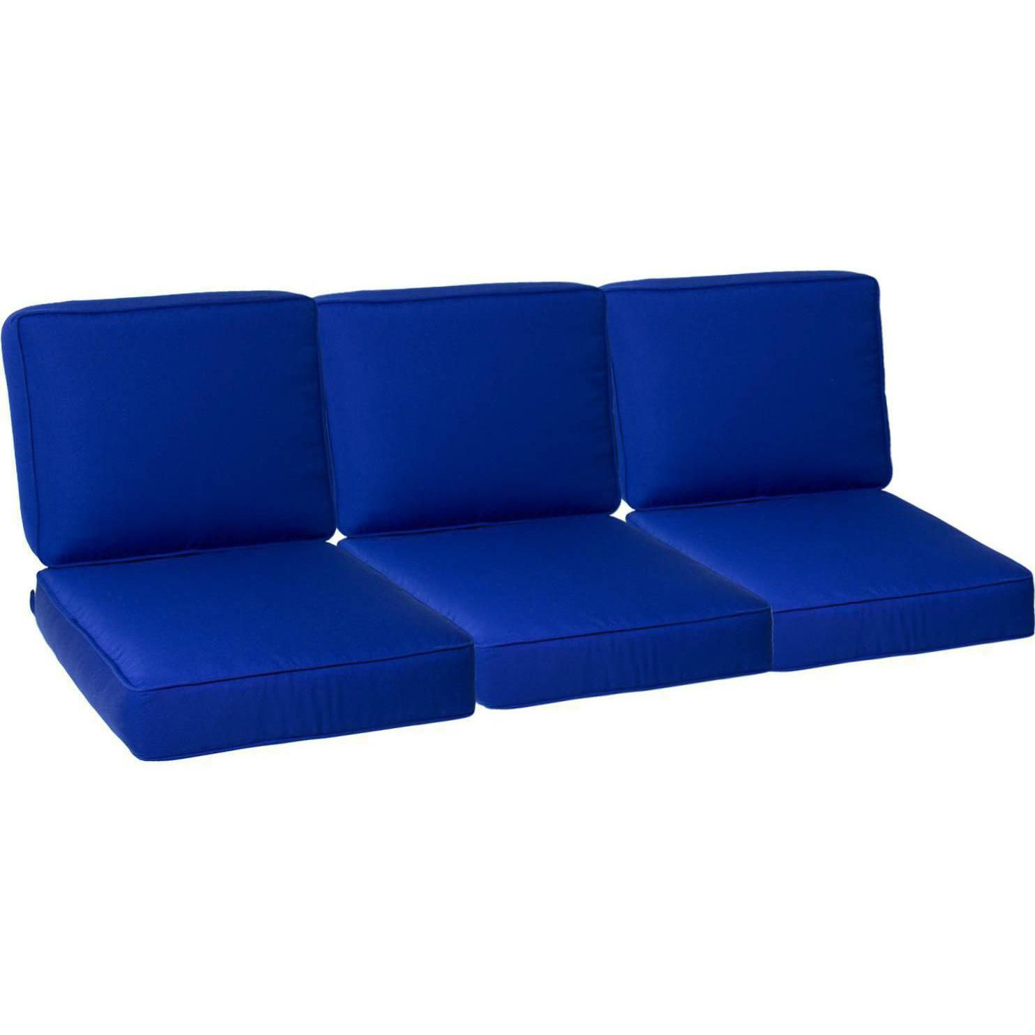 Attirant Sunbrella Canvas True Blue Small Outdoor Replacement Sofa Cushion Set W/  Piping By UltimatePatio.com