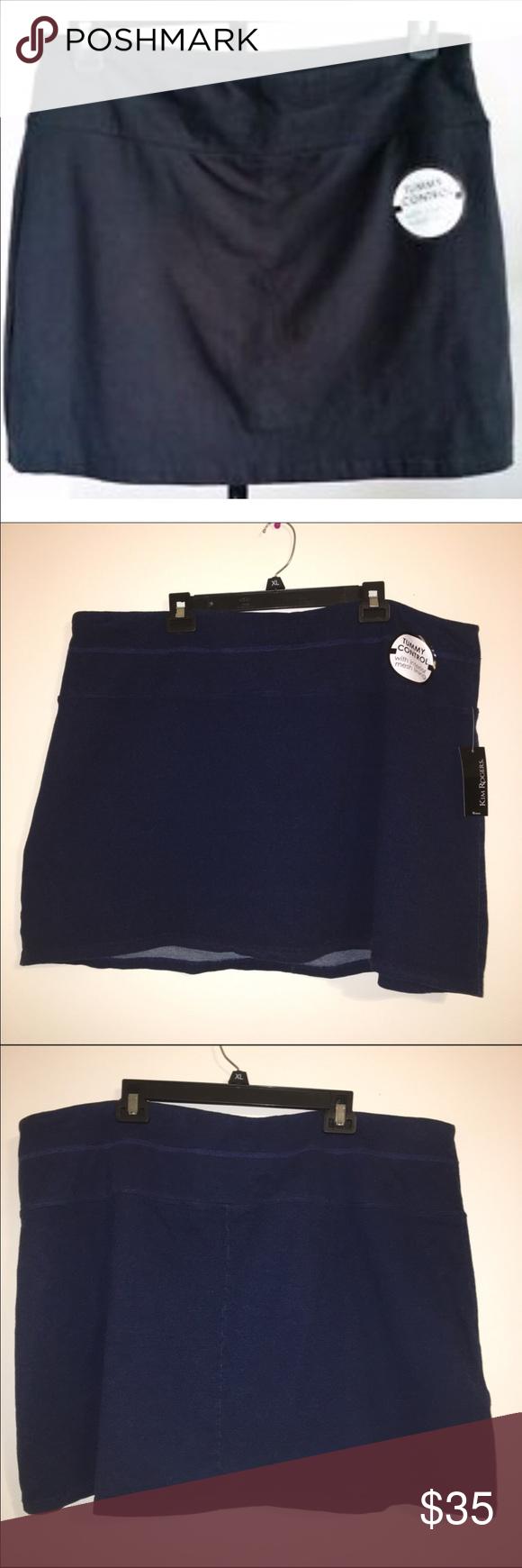 🌻 Kim Rodgers Dark Wash Knit Skort Kim Rodgers Dark Wash Knit Skort. Kim Rogers Shorts Skorts