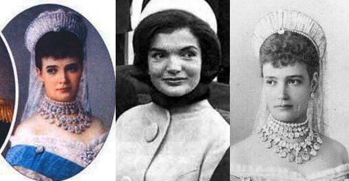 1, 3) Princess Marie Sophie Frederikke Dagmar (November 26, 1847 - October 13, 1928)     2) Jacqueline Lee Bouvier Kennedy Onassis (July 28, 1929 – May 19, 1994)  Match made by Brian Stalin