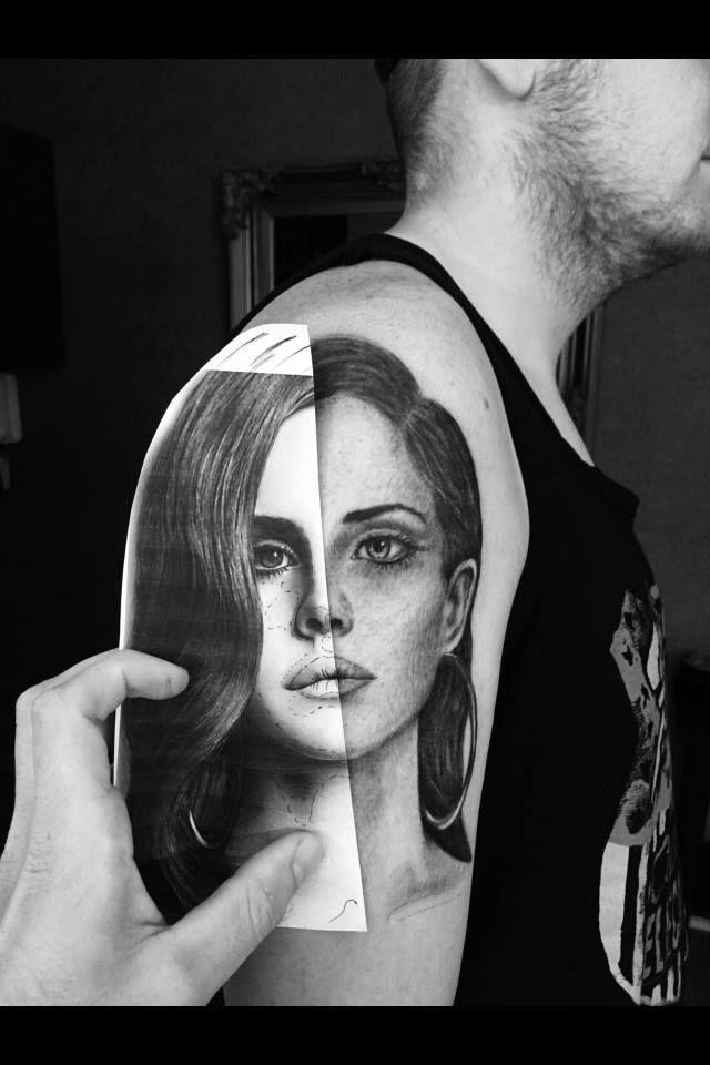 Tattoo Lana Del Rey Portrait Shoulder My Style