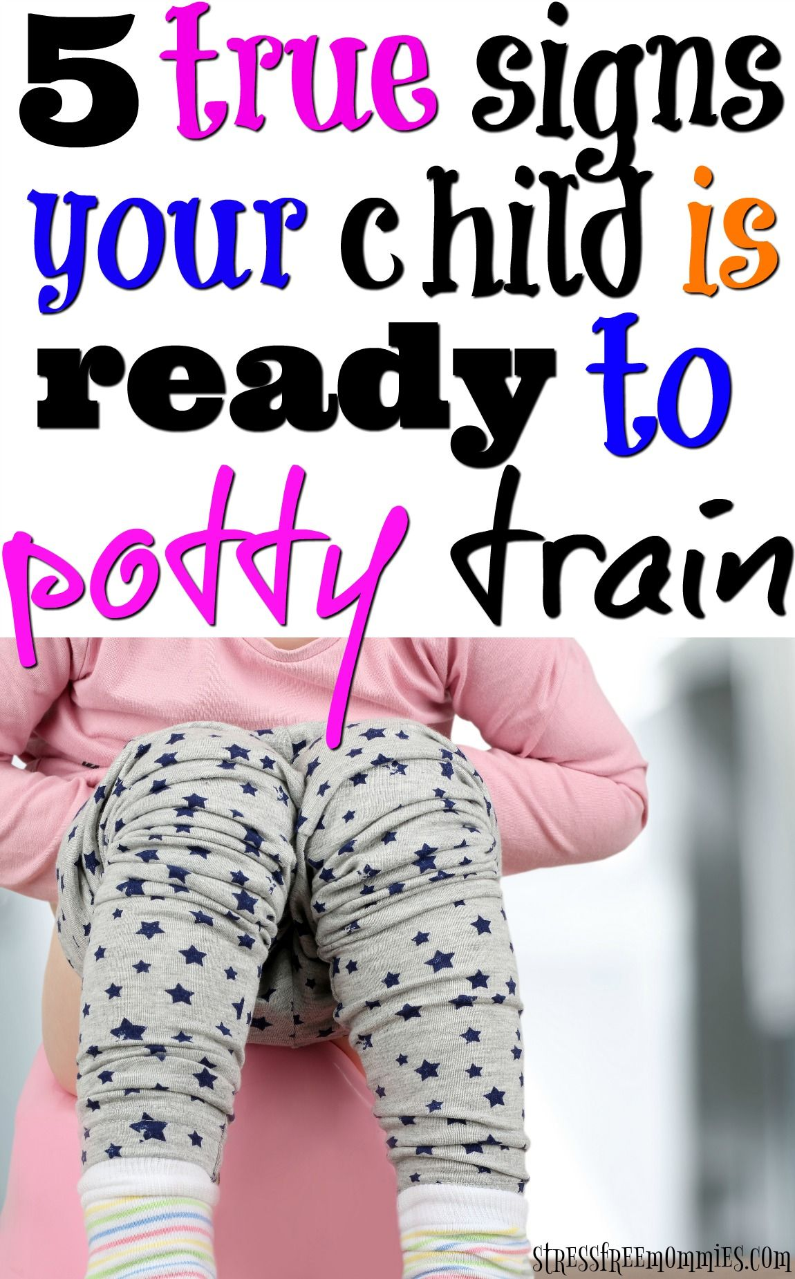 You're ready to start potty training your child. But is your child ready? Find out now, with these 5 true signs to know if your child is ready to potty train. You do not want to miss! via @http://www.pinterest.com/stressfreemom