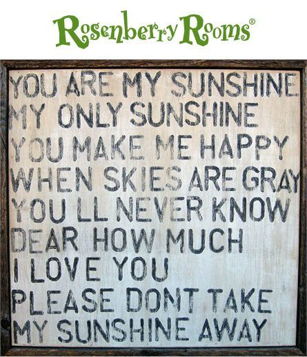 you are my sunshine vintage art print with grey wood frame - You Are My Sunshine Frame