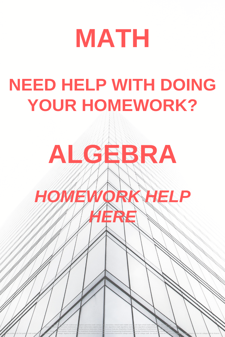 Do my college math homework