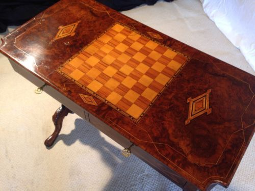 Very rare #exceptionally #attractive  william iv burr #walnut games/chess table,  View more on the LINK: http://www.zeppy.io/product/gb/2/252287325068/
