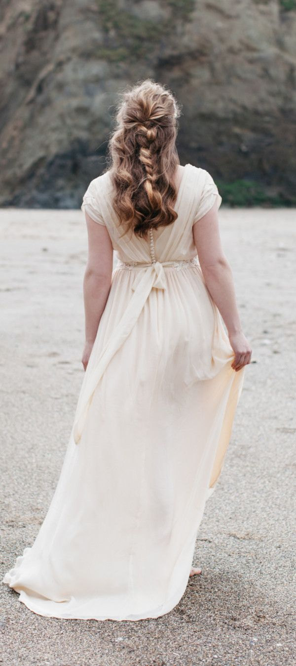 Different color wedding dresses  Cornish wedding gown by Ailsa Munro Inspired by the beach I love