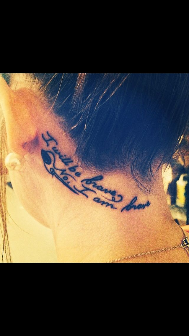 Pin By Brittany Underkoffler On Tattooooos Neck Tattoo Tattoos Tattoo Quotes