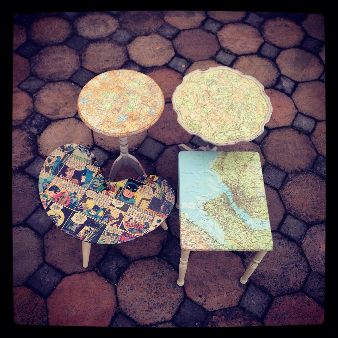 4 funky tables by www.iloveupcycle.com