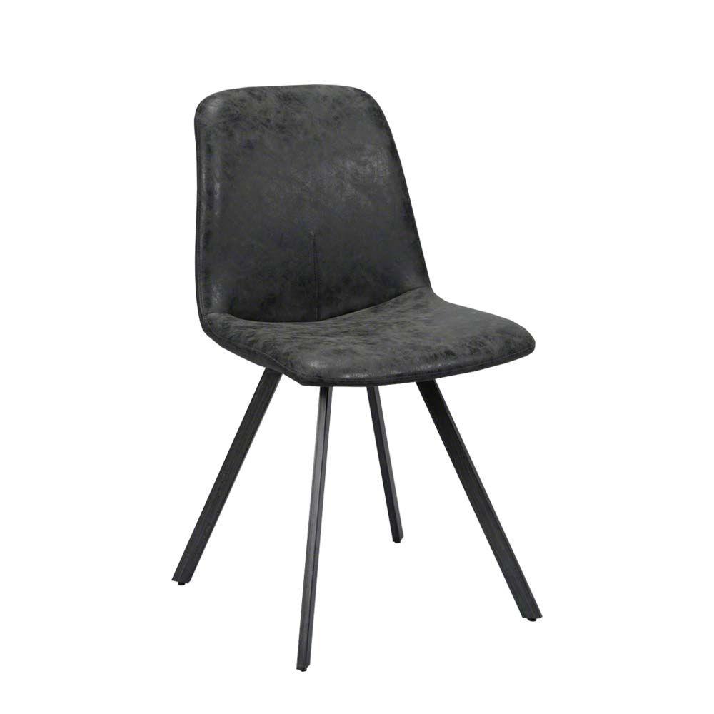 Genial Esstisch Stühle Schwarz Das Beste Von Esszimmerstuhl In Kunstleder (4er Set) Jetzt Bestellen