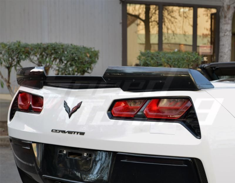 Performance Corvettes Corvette C7 Z06 ZO6 Grand Sport Stingray Stage 2 Wicker Spoiler Painted Carbon Flash Metallic