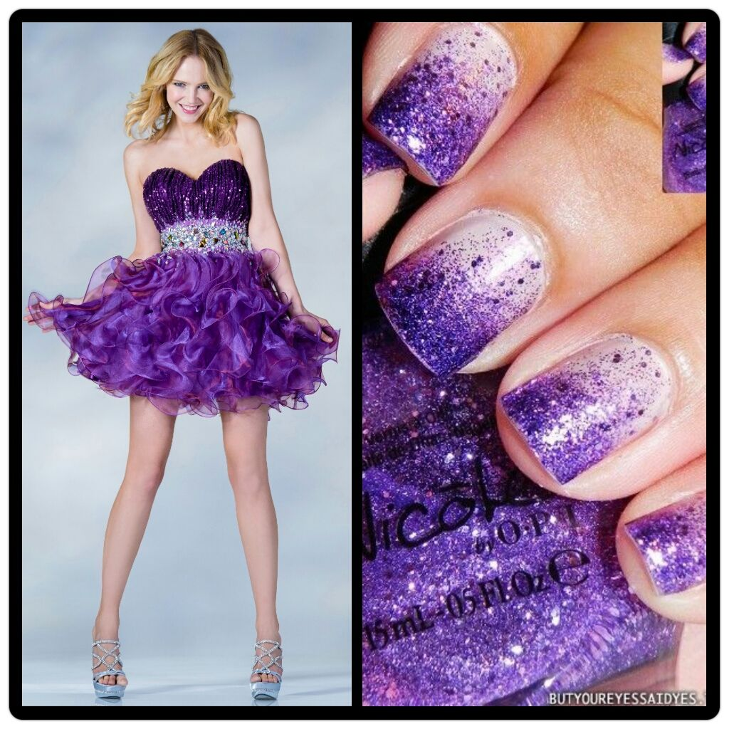 Nail color for plum dress